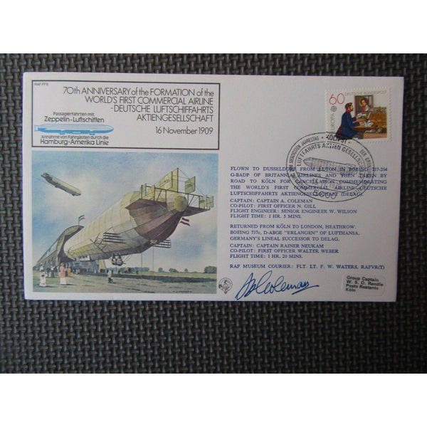 "RAF FF 8 Flown Cover Signed By ""Captain A Coleman"" 16/11/79 - uk-cover-lover"