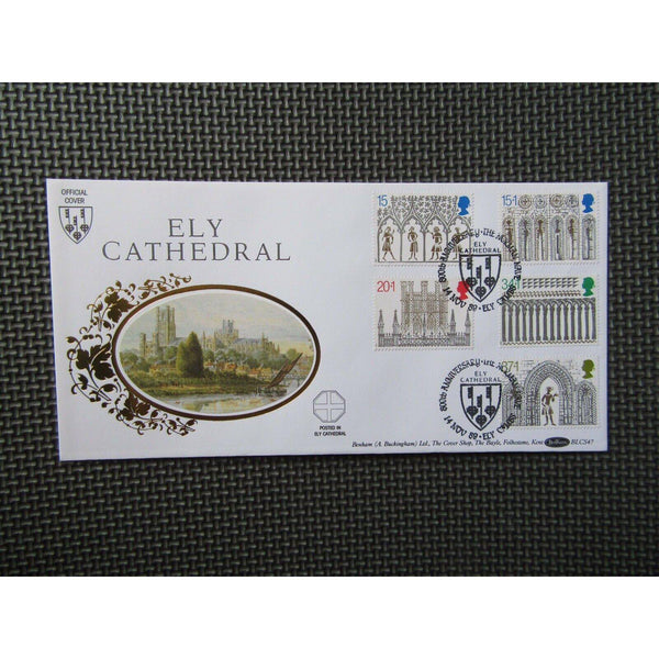 "G.B Benham Cover ""Ely Cathedral"" BLCS 47 14/11/89 - uk-cover-lover"