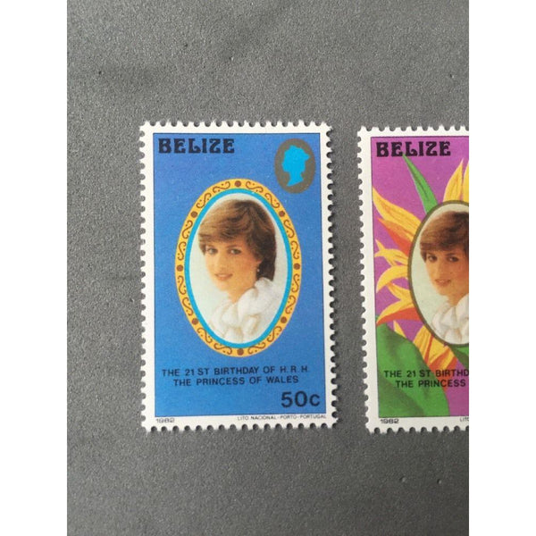 Belize 1982 Princess Diana 21st Birthday MNH Set SG 680/681/682 - uk-cover-lover