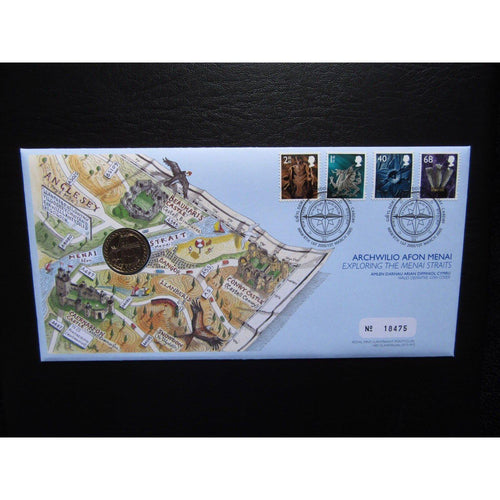 "G.B 2005 Coin Cover ""Exploring The Menai Strait"" Ltd Edition 01/03/05 - uk-cover-lover"