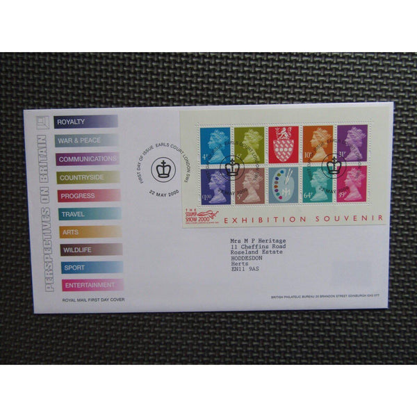 2000 Stamp Show Exhibition Souvenir Mini Sheet FDI Cover 22/05/00 - uk-cover-lover