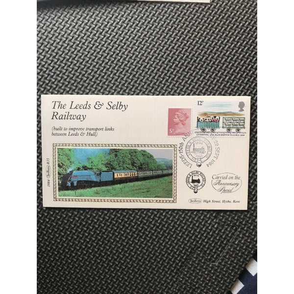 "G.B Benham Cover R15 ""The Leeds & Selby Railway"" 22/09/84 - uk-cover-lover"