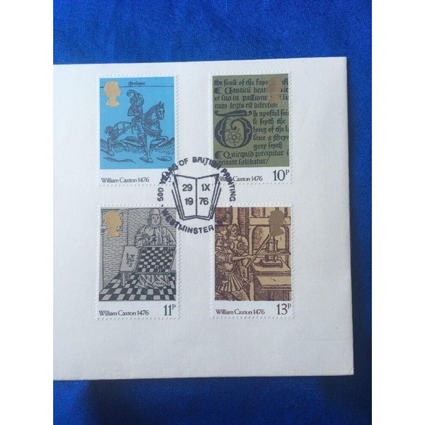 "G.B FDC ""William Caxton"" PM ""500 Years Of British Printing"" Cat £20 - uk-cover-lover"
