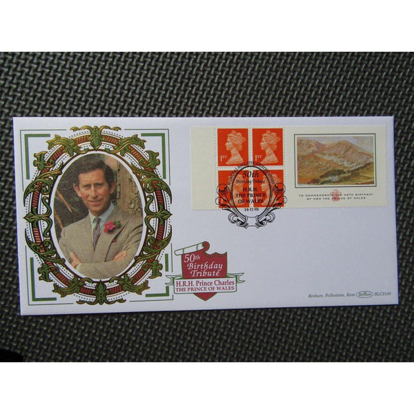 "G.B Benham Cover ""50th Birthday Tribute H.R.H Prince Of Wales"" BLCS 149 14/11/98 - uk-cover-lover"