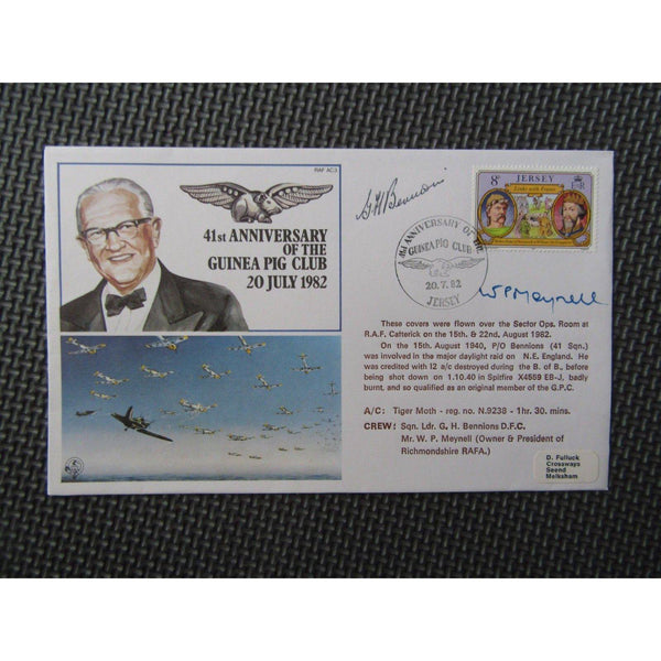 RAF AC3 '41st Anniversary Of The Guinea Pig Club 'W. P. Meynell' Signed Cover - uk-cover-lover