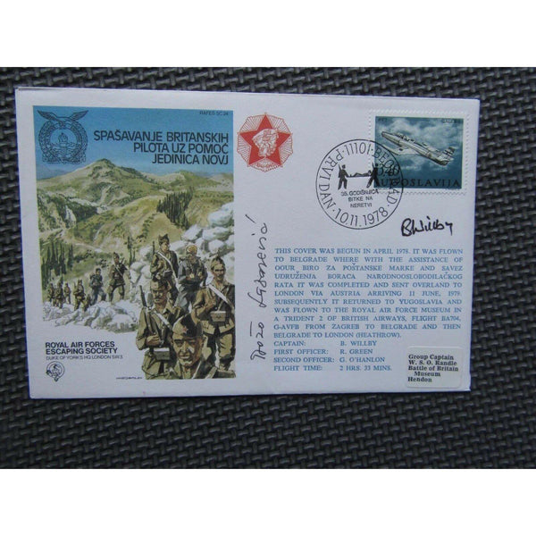 RAFES SC 24 Royal Air Forces Escaping Society Signed & Flown Cover 10/11/78 - uk-cover-lover