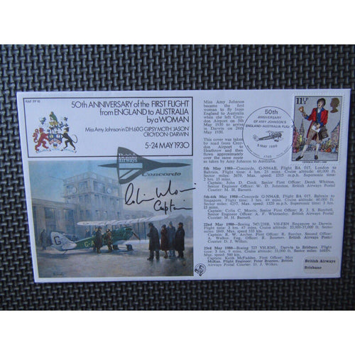 RAF FF 16 Concorde Signed Cover 'Captain Colin Morris' 05/05/80 - uk-cover-lover