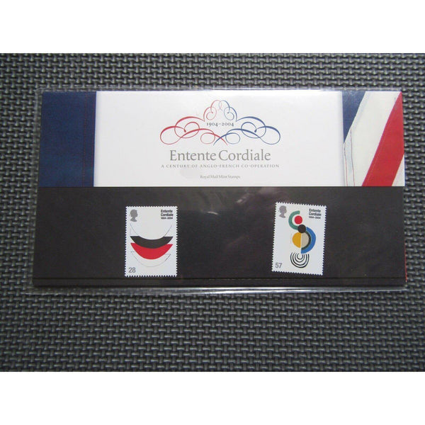 "G.B Presentation Pack ""Entente Cordiale"" 2004 Pk.358 - uk-cover-lover"