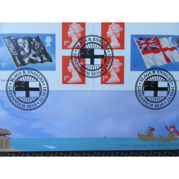 2001 Benham BLCS216b - Flags & Ensigns Retail Booklet 'Jolly Roger' Cover - uk-cover-lover