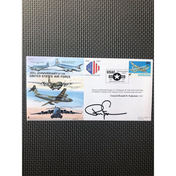 JS (CC) 35 - USAF 50th Anniversary - Ronald Fogleman Signed Cover 18/09/97 - uk-cover-lover