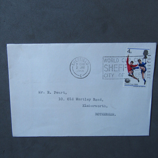 "G.B Collectable Postmark ""World Cup City, Sheffield, City Of Steel"" 02/06/66 - uk-cover-lover"