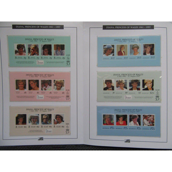 Diana, Princess of Wales - Complete Set of 31 In Memorial Stamp Miniature Sheets - uk-cover-lover
