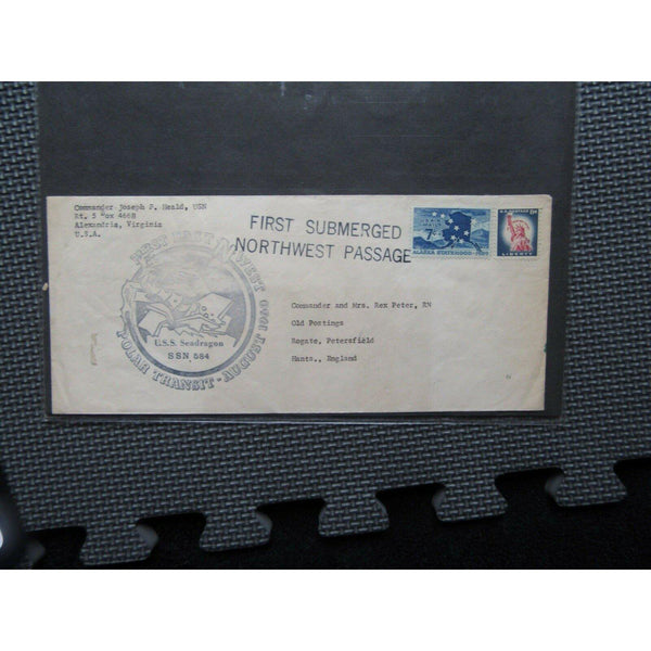 1960 - First Submerged East Northwest Polar Transit - U.S.S. Seadragon SSN 584 - uk-cover-lover