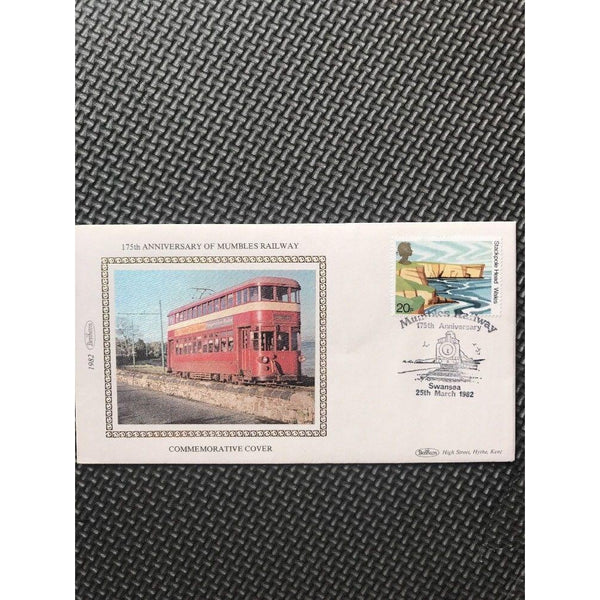 "G.B Benham Cover ""175th Anniversary Of Mumbles Railway"" 25/03/82 - uk-cover-lover"