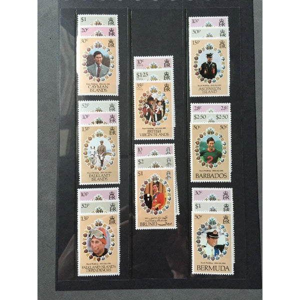 1981 Royal Wedding Charles & Diana Mixed MNH Stamp Selection - uk-cover-lover
