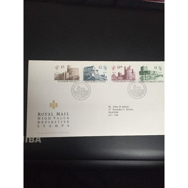 "GB 1988 High Value Castle Definitives PM ""FDI Windsor, Berkshire"" - uk-cover-lover"
