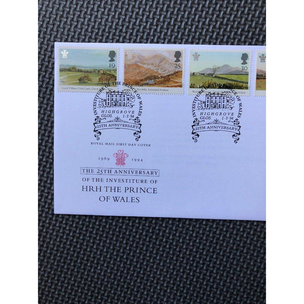 G.B FDC - Prince of Wales PM 'Investiture, Highgrove, Glos' 01/03/94 - uk-cover-lover