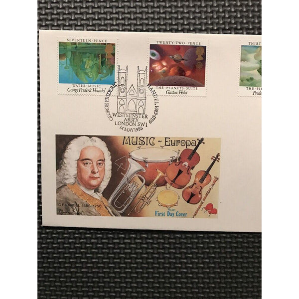 G.B Philart FDC 'British Composers' PM 'Handel - Westminster Abbey' 14/05/85 - uk-cover-lover