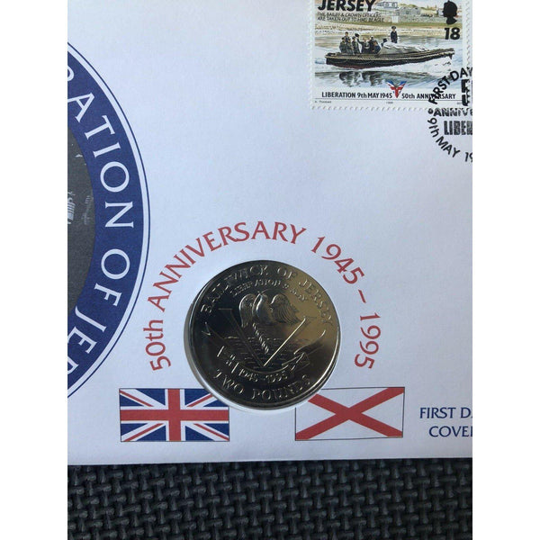 Jersey Coin Cover - Jersey Liberation - 09/05/95 - uk-cover-lover