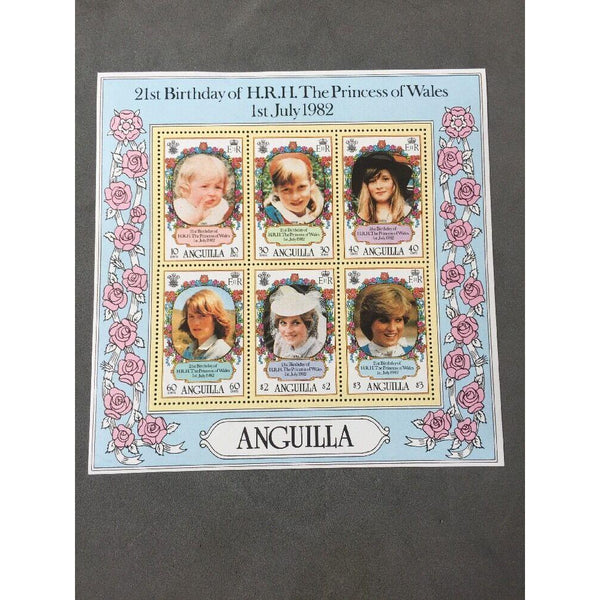 21st Birthday Of The Princess Of Wales Anguilla Mini Sheet SG MS514 MNH - uk-cover-lover