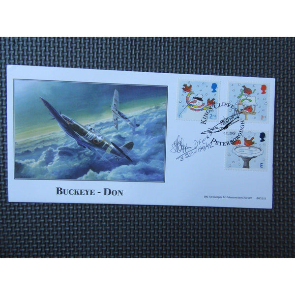 H. E. Tappin DFC No. 3 Squadron Signed Cover - Limited Edition - uk-cover-lover