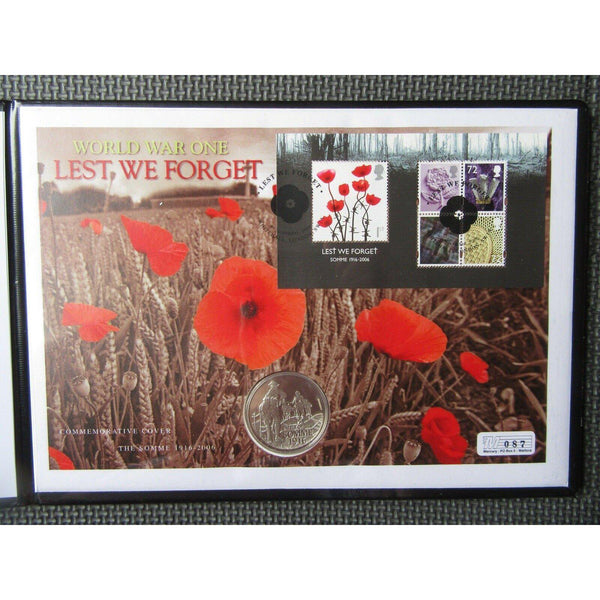 2006 - Lest We Forget Commemorative Silver Coin Cover - Limited Edition - uk-cover-lover