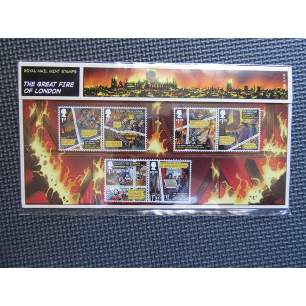 "G.B Presentation Pack ""The Great Fire Of London"" Pk No.531 02/09/16 - uk-cover-lover"