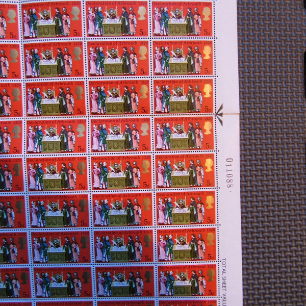 1970 5d General Anniversaries Complete Mint Full Sheet 120 Stamps 01/04/70 - uk-cover-lover