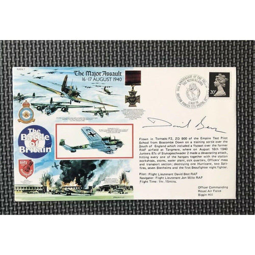 RAFA 7 Battle Of Britain - David Best Signed Cover 15/05/90 - uk-cover-lover