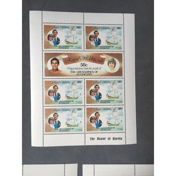 The Grenadines Of St Vincent 1981 Royal Wedding Complete Set Of 3 Sheets MNH - uk-cover-lover
