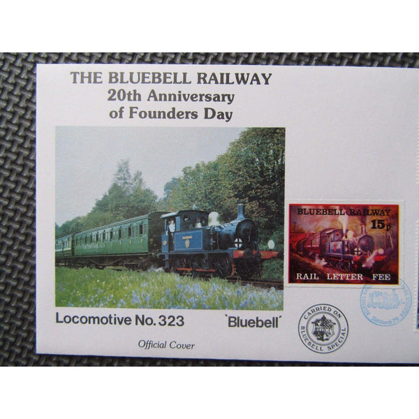"G.B Benham Cover ""The Bluebell Railway"" 20th Anniv. Of Founders Day 21/03/79 - uk-cover-lover"