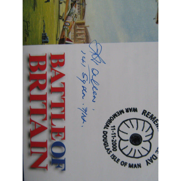 2000 - Battle of Britain Cover PM - Remembrance Day Signed Sgt Leslie H Allen - uk-cover-lover