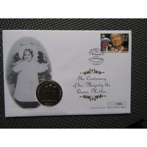 "Isle Of Man 2000 Coin Cover ""Centenary Of Her Majesty The Queen Mother"" 29/02/00 - uk-cover-lover"