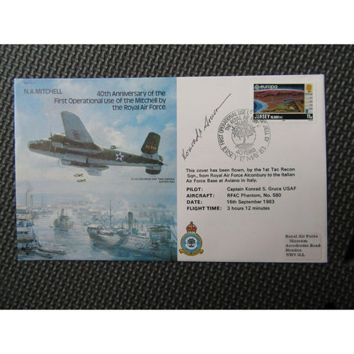 "G.B RAF B37 ""Captain Konrad S. Gruca"" Signed & Flown Cover 17/05/83 - uk-cover-lover"
