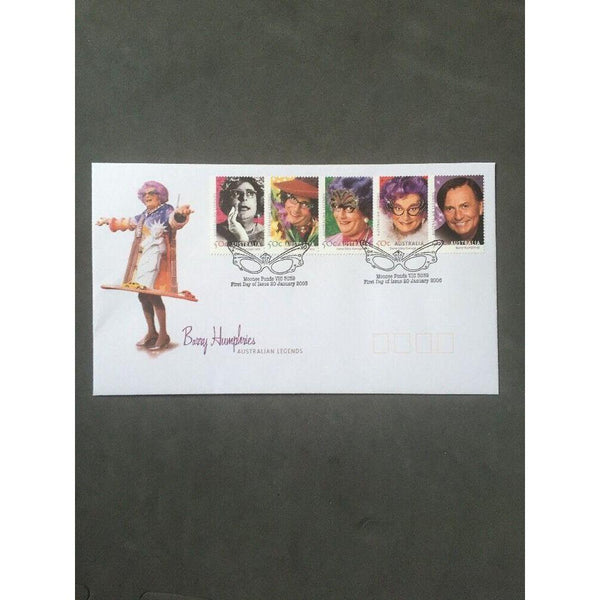 Australia Legends - Barry Humphries Australian FDC 20/01/06 - uk-cover-lover