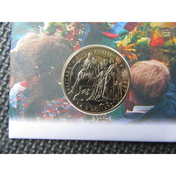 New Zealand - Golden Wedding Anniversary  £5 Coin Cover - 12/11/97 - uk-cover-lover