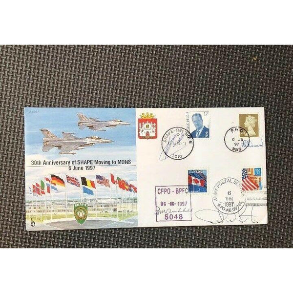 JS (CC)30 - 30th Anniversary Of Shape Moving To Mons - Signed & Flown Cover - uk-cover-lover