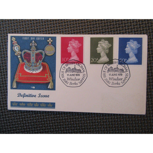 "G.B Definitive Cover ""10p, 20p and 50p"" PM ""Decimal Stamps Windsor"" 17/06/70 - uk-cover-lover"