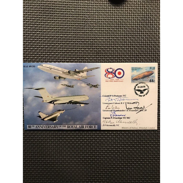 RAF 80(10) 80th Anniversary Of The RAF - Signed Porteous, Wilson & 3 Others - uk-cover-lover