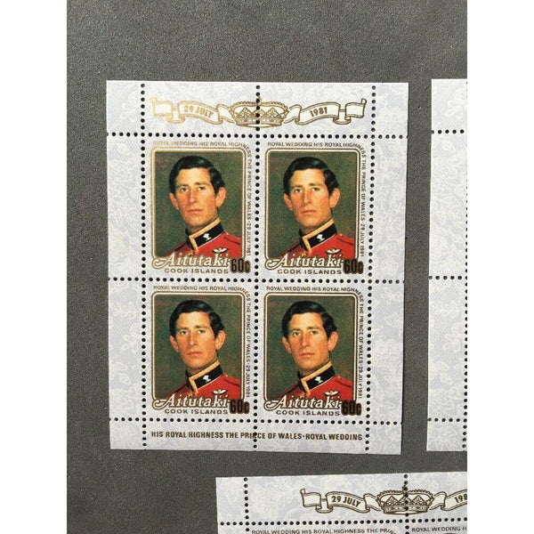 Aitutaki - Royal Wedding 1981 - Full Set Of Sheets MNH - uk-cover-lover