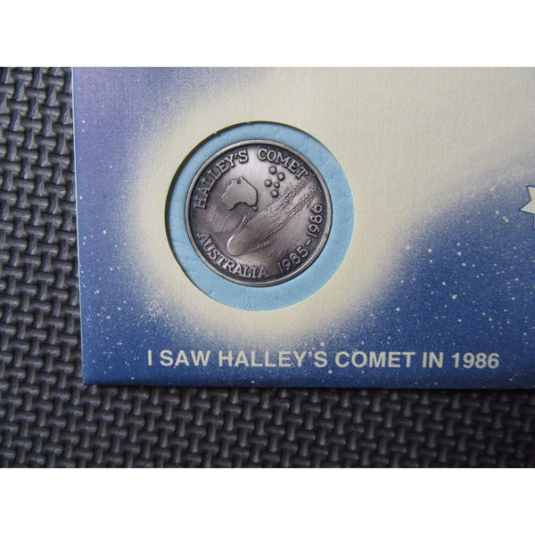 1986 Halley's Comet Colony Australia Commemorative First Day Cover PNC - uk-cover-lover