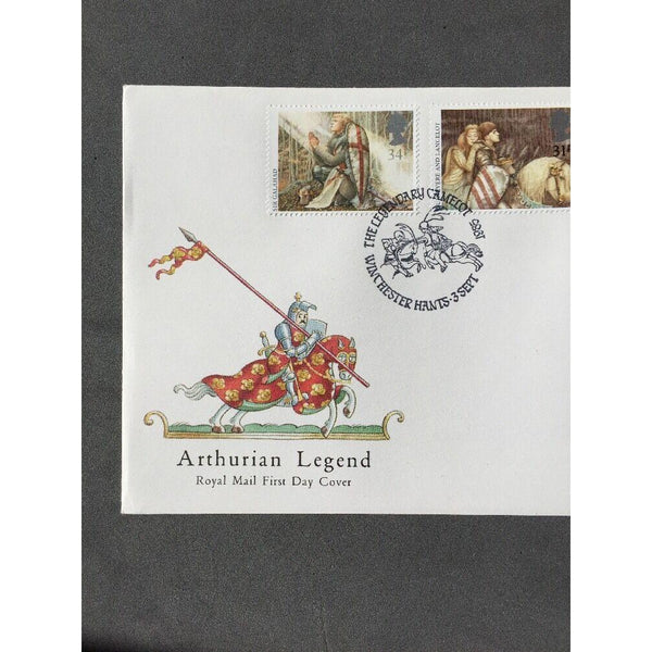 "G.B FDC Arthurian Legend PM ""The Legendary Camelot, Winchester"" 03/09/85 - uk-cover-lover"