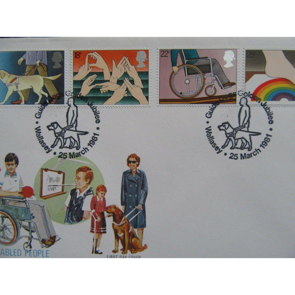 "G.B First Day Cover X 2 ""Year Of Disabled People"" 2 Different Postmarks 25/03/81 - uk-cover-lover"