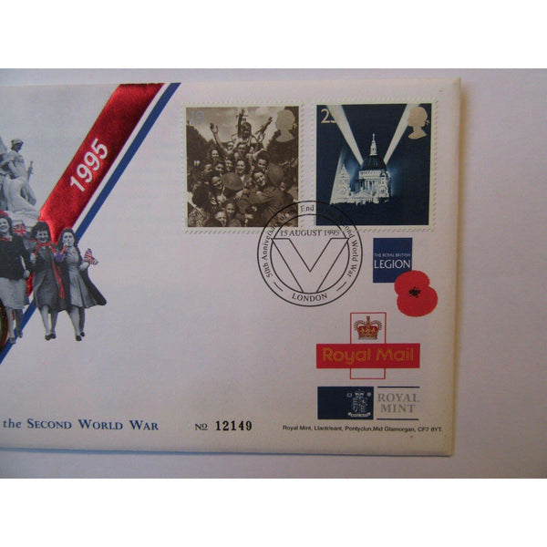 "G.B Coin Cover ""50th Anniversary Of The End Of The Second World War"" 15/08/95 - uk-cover-lover"