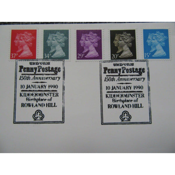 "FDC ""Penny Black Anniversary"" PM ""Uniform Penny Post, Kidderminster"" 10/01/90 - uk-cover-lover"