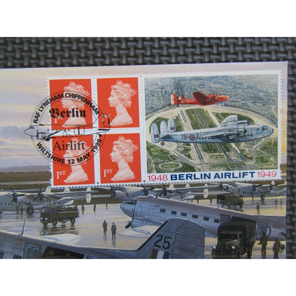 A.G. Bradbury Commemorative Label Cover - £1.04 Berlin Airlift - 12/05/99 - uk-cover-lover