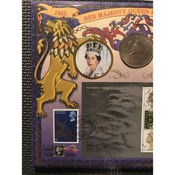 "G.B Benham Coin Cover 'The Queens Stamps' PM 'Stamp Show, Westminster"" 23/05/00 - uk-cover-lover"