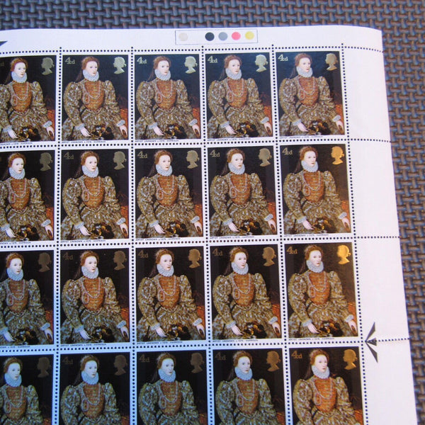 G.B 'British Paintings' 4d Elizabeth 1 - Full Sheet MNH 60 Stamps 12/08/68 - uk-cover-lover