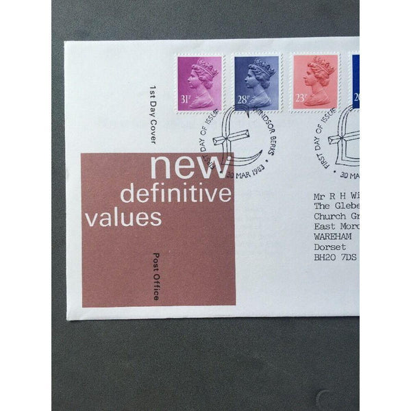 "G.B New Definitives 30/03/83 PM ""Windsor, Berks"" - uk-cover-lover"
