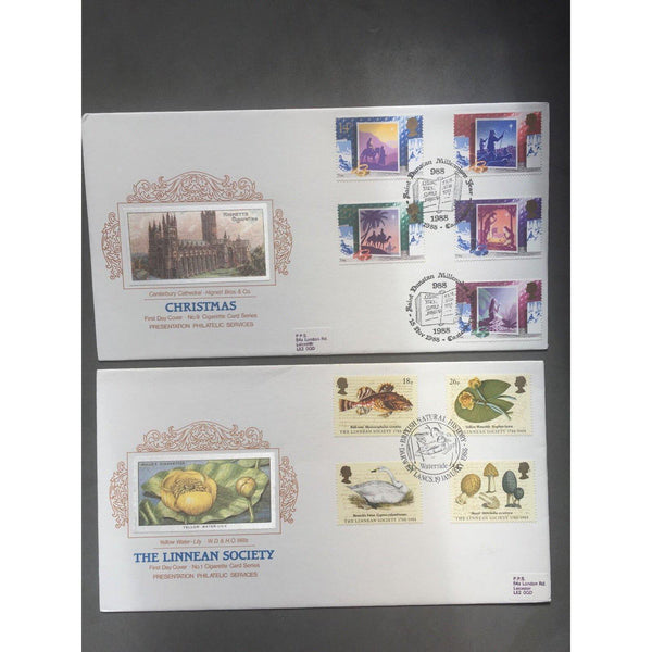 2 Presentation Philatelic Services FDC's Very Collectable Postmarks 1980's - uk-cover-lover